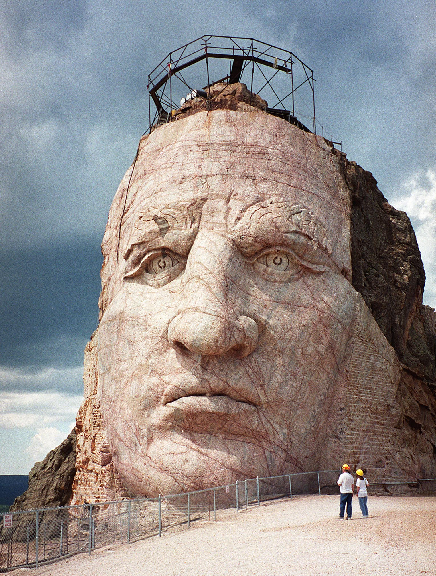 This August, 2001 photo shows the face of the Crazy Horse monument. Photo: Francis Temman/AFP Getty Images.