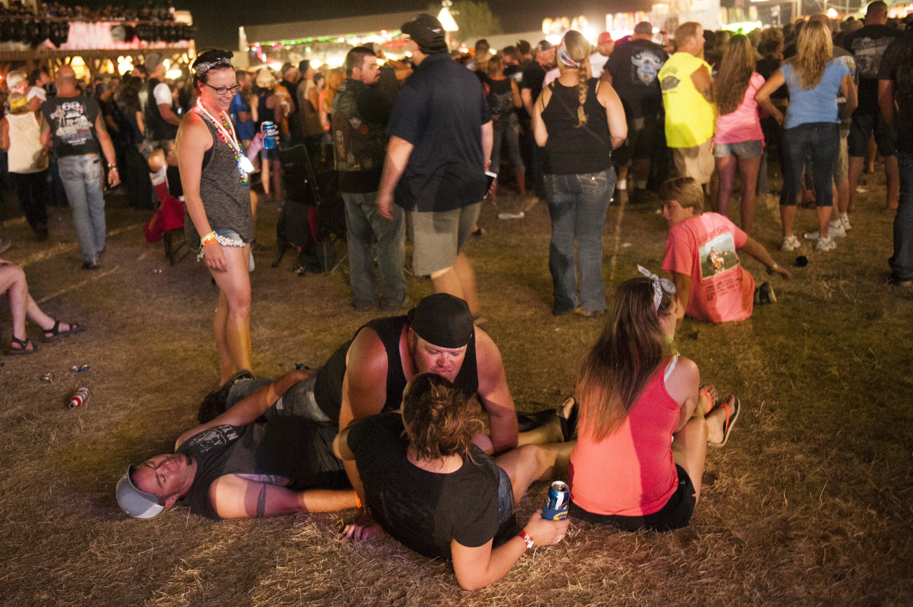STURGIS, SD - AUGUST 3:  Revelers watch a concert at the Sturgis Buffalo Chip campground August 3, 2015 in Sturgis, South Dakota.  This year marks the 75th anniversary of the Sturgis Motorcycle Rally, with crowds of up to 1.2 million people expected to visit.  Andrew Cullen | Getty Images