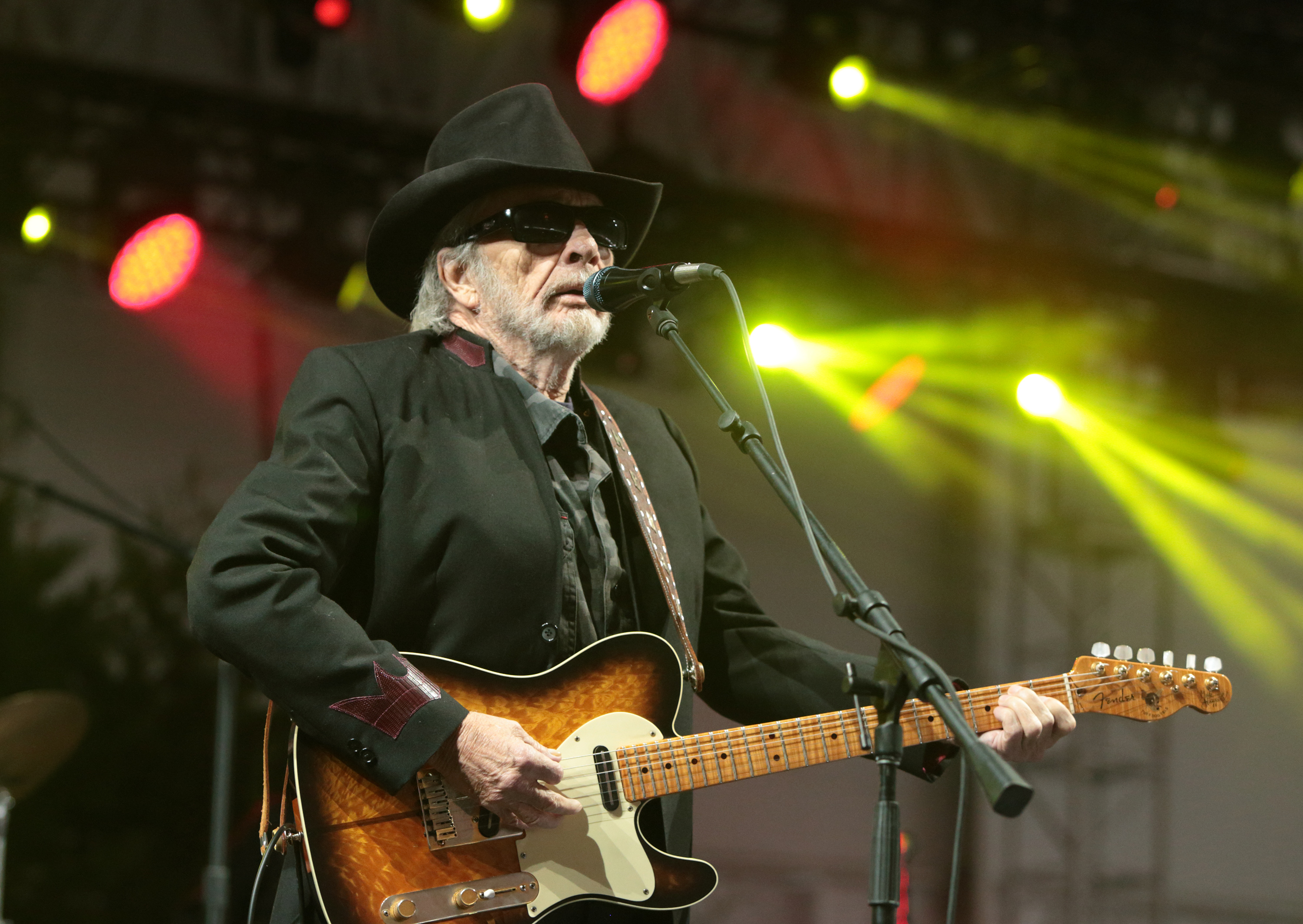 Singer-songwriter Merle Haggard performs on Day 3 of the 2015 Big Barrel Country Music Festival at The Woodlands on Sunday, June 28, 2015, in Dover, Del. (Photo by Owen Sweeney/Invision/AP)